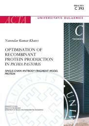 Optimisation of recombinant protein production in Pichia pastoris ...