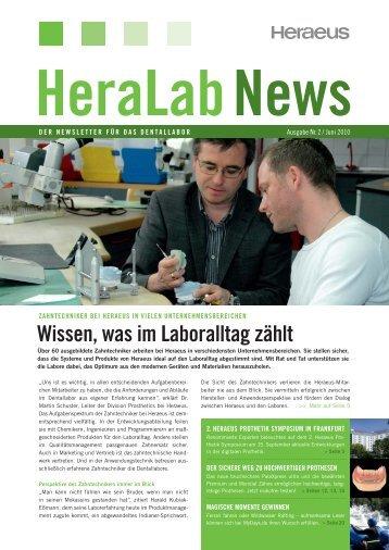 HeraLab News - Heraeus Kulzer