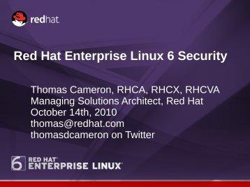 RHEL 6 Security - Red Hat People