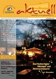 Bad Rothenfelder Nikolaus- und Weihnachtsmarkt - GROTEVERLAG