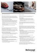 Boconcept Care Guide - Page 2