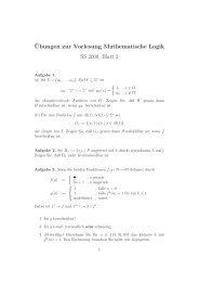 ¨Ubungen zur Vorlesung Mathematische Logik SS 2009, Blatt 3