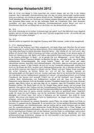 Hennings Reisebericht 2012 - home . snafu . de