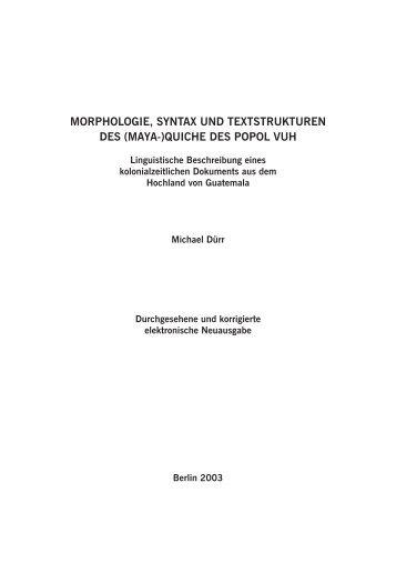 Morphologie, Syntax und Textstrukturen des - home . snafu . de ...
