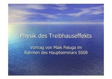 Physik des Treibhauseffekts