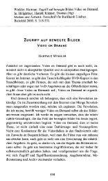 ZUGRIFF AUF BEWEGTE BILDER