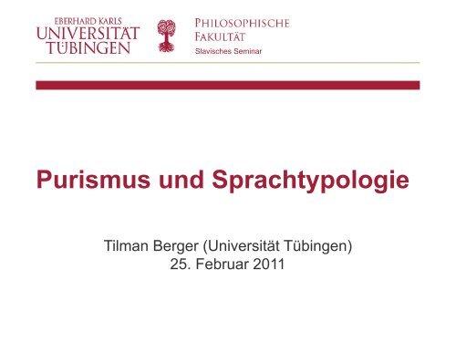 Prof. Dr. Tilman Berger Slavisches Seminar - Homepage.uni ...