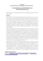 Vom Antisemiten zum Semitistik-Professor Chronologie Rössler, Otto
