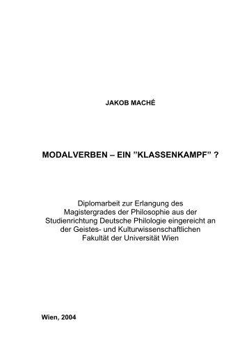 Modalverben - ein Klassenkampf - German Grammar Group FU Berlin