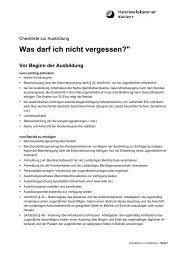 Checkliste zur Ausbildung für Betriebe - Handwerkskammer Koblenz