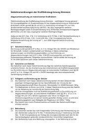 23.04.2009: Gebührenordnungen der Kraftfahrzeug-Innung Simmern