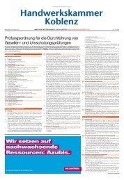 und Umschulungsprüfungen - Handwerkskammer Koblenz