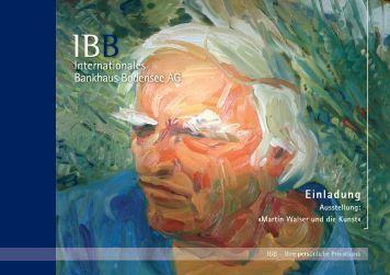 Martin Walser und die Kunst - IBB