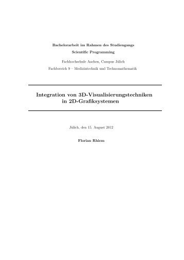 Integration von 3D-Visualisierungstechniken in 2D-Grafiksystemen