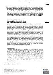 Fünfzig Jahre Vierteljahrshefte für Zeitgeschichte 1953-2003. Was ...