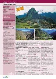 Kontrastreiches Peru - TravelCMS