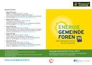 ENERGIE GEMEINDE FOREN - Umweltberatung