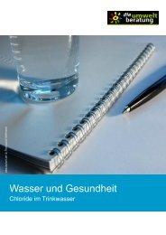 Chloride im Trinkwasser - umweltberatung