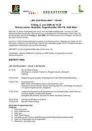 """""""Wir sind klima:aktiv"""" – Event Freitag, 2. Juni 2006 ... - umweltberatung"""