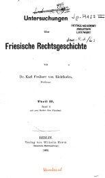Friesische Rechtsgeschichte - Tresoar