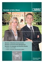 Bachelor of Arts (Hons) - Sprachenmarkt.de