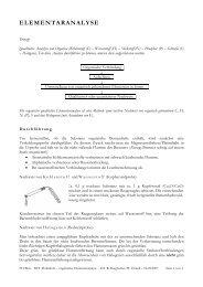 ELEMENTARANALYSE - FH-Wels