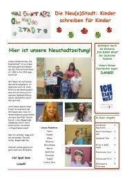Die Neu(e)Stadt: Kinder schreiben für Kinder - Internationaler Bund