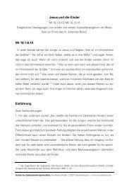 Exegetische Überlegungen zu den neutestamentlichen Texten des ...
