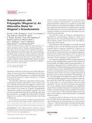 Granulomatosis with Polyangiitis (Wegener's) - Journal of the ...