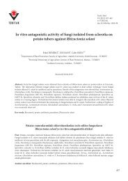 In vitro antagonistic activity of fungi isolated from sclerotia on potato ...