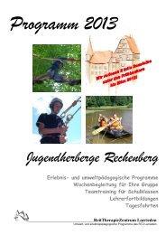 Freizeitprogramm 2013.pdf - Deutsches Jugendherbergswerk