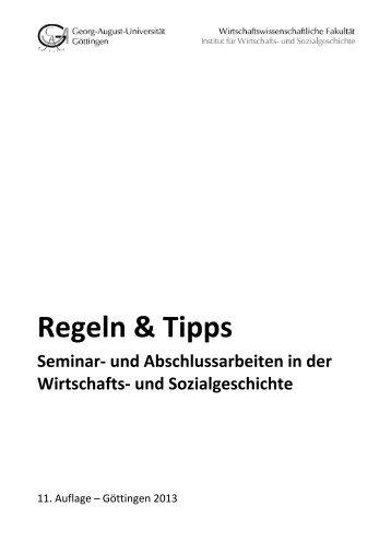 Regeln & Tipps. Hinweise für die Anfertigung schriftlicher