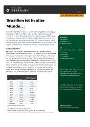 Brasilien ist in aller Munde… - Jyske Bank