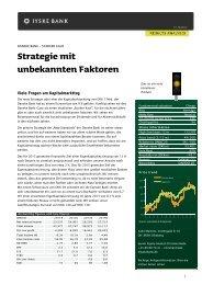 Strategie mit unbekannten Faktoren - Jyske Bank