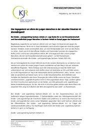 Zur Pressemitteilung des KJR LSA - Kinder- und Jugendring ...