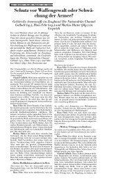 Schutz vor Waffengewalt oder Schwaechung der Armee - ETH Zürich