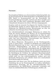 Vorwort - ETH Zürich