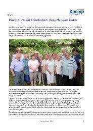 Kneipp-Verein Edenkoben: Besuch beim Imker - Kneipp-Bund e.V.