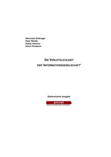 """Die Verletzlichkeit der """"Informationsgesellschaft"""" - KOBRA"""