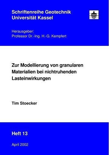 Zur Modellierung von granularen Materialien bei nichtruhenden ...