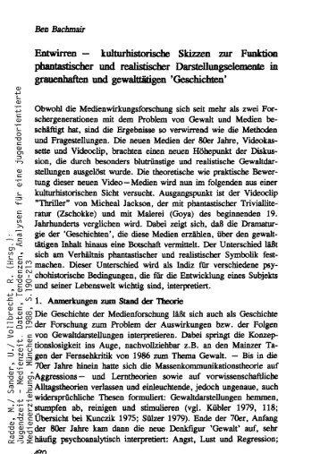Entwirren - kulturhistorische Skizzen zur Funktion ... - KOBRA