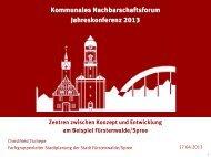 Vortrag EInzelhandelskonzepte Fürstenwalde / Spree - Kommunales ...