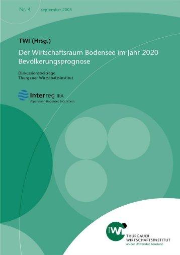 Der Wirtschaftsraum Bodensee im Jahr 2020 - KOPS - Universität ...