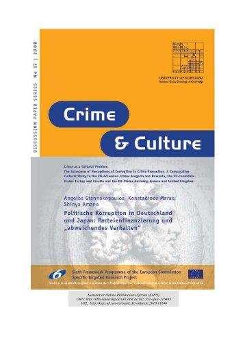 Politische Korruption in Deutschland und Japan - KOPS - Universität ...