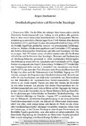Gesellschaftsgeschichte und Historische Soziologie - KOPS