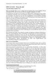 OPEN ACCESS – Wissen für alle! - KOPS - Universität Konstanz