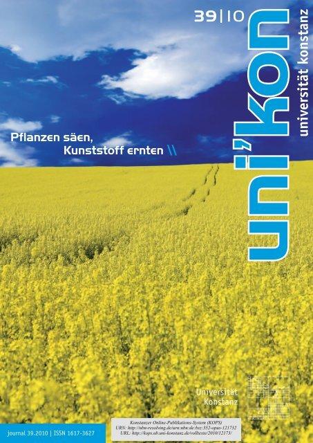 Pflanzen säen, Kunststoff ernten - KOPS - Universität Konstanz