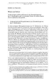 Wissen und Sehen : Anthropologie und Perspektivismus in ... - KOPS