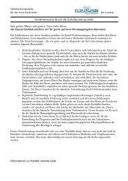 Förderberatung durch die Schulberatungsstelle - Kreis Euskirchen