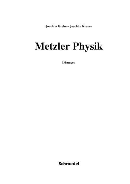 Metzler physik lösungen